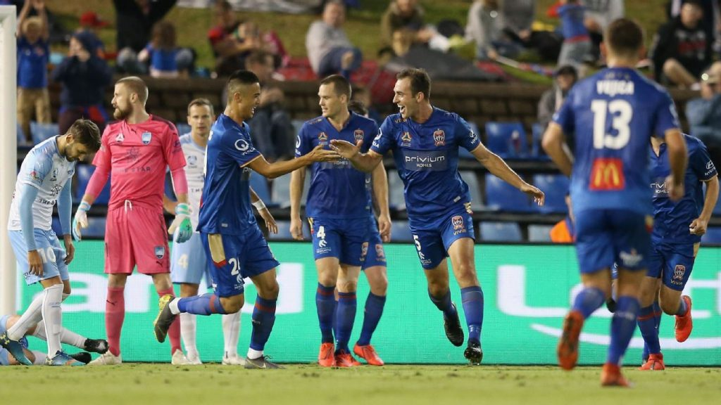 07bcb45ab Newcastle Jets beat Sydney FC to end A-League season on high note